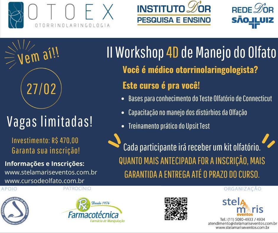 II Workshop 4D de Manejo do Olfato